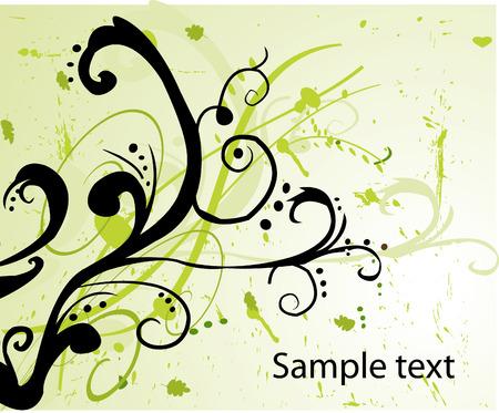blumen abstrakt: Floral abstract Vector background