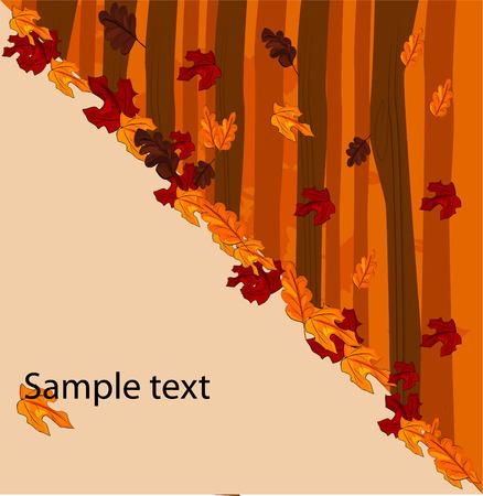autumnal: autumnal concept background - vector illustration