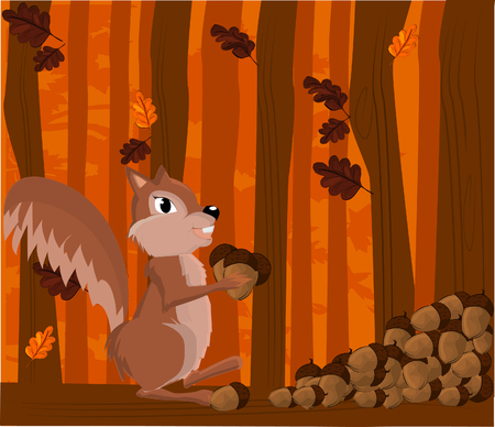 drifting: Vector illustration of a squirrel