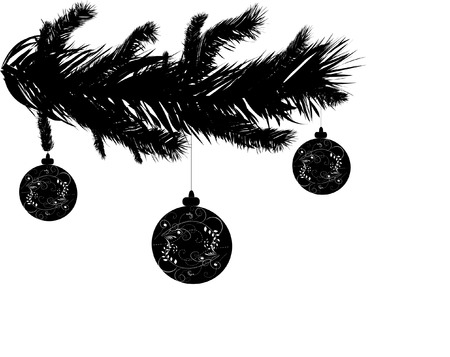 pine needles: a detailed vector backgroung of Christmas pine needles Illustration