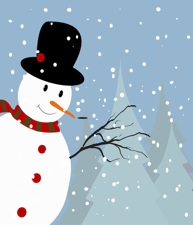 hat new year s eve: Snowman Background Illustration