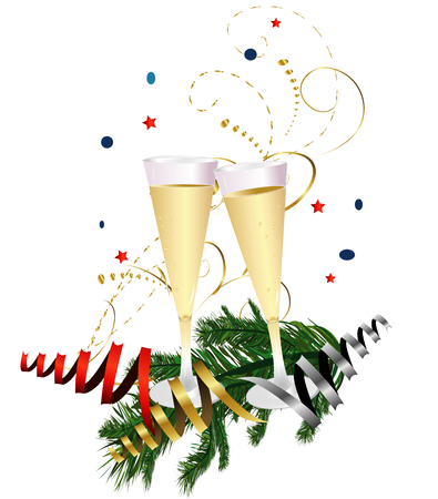 affairs: New Years Champagne Toast Illustration