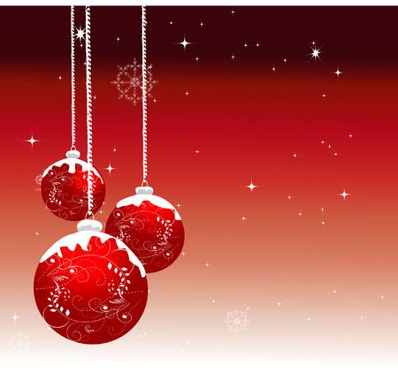 blue ball: Ornamented Christmas balls Illustration