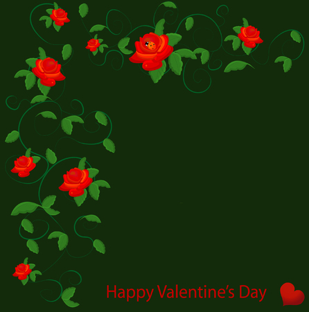 valentineday: valentine vector with red rose