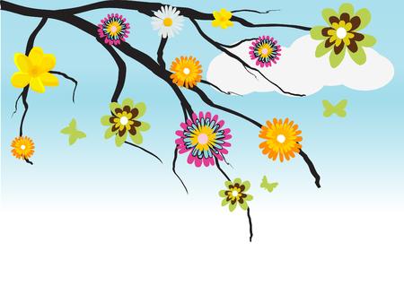 primavera: tree with flowers