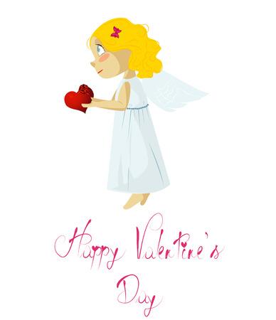 angel: Vector illustration. Love angel.