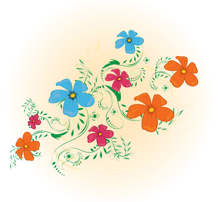 wallpape: abstract floral background Illustration