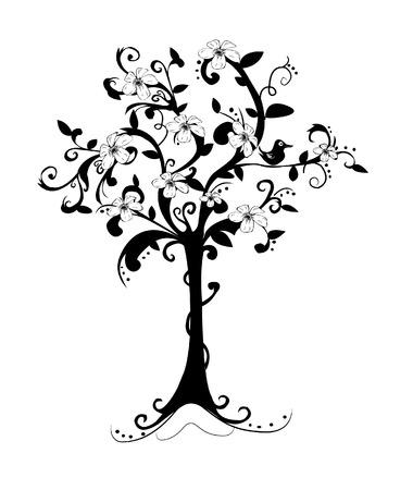 genealogy tree: abstract spring tree Illustration