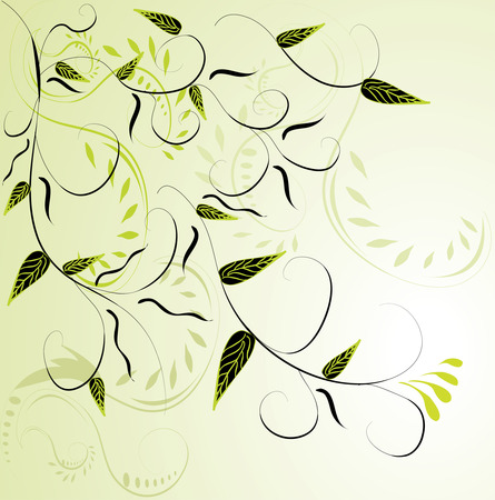 green background: Abstract green floral background.