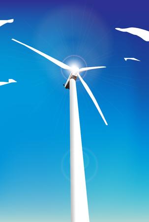 molinos de viento: Molinos de viento de vector  Vectores