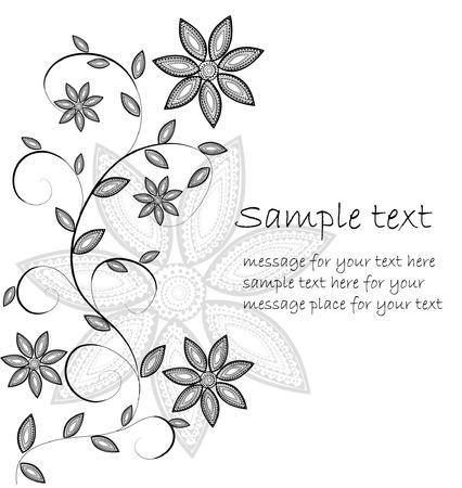 card: floral card Illustration