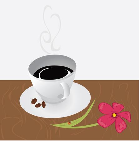 mocca: Coffee Background Illustration
