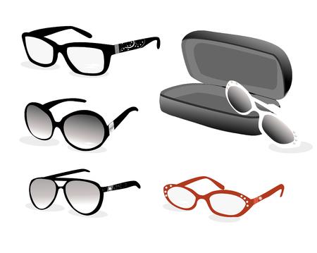 eye glasses: eye glasses vector illustrtaion