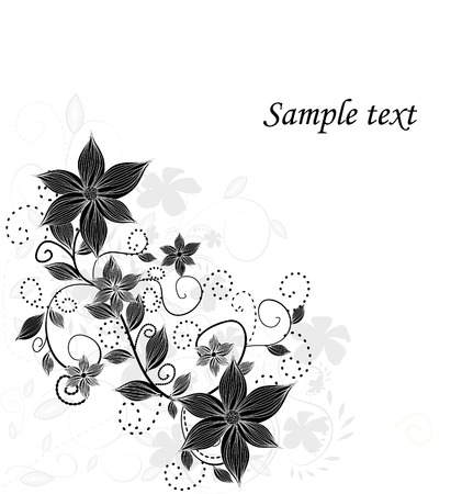 linework: Floral greeting card