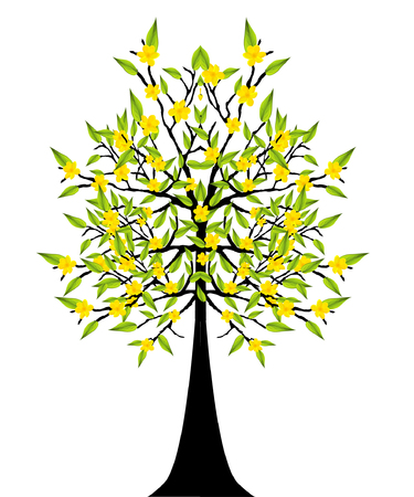 filler: abstract detailed eco tree vector illustration