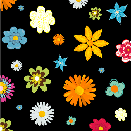abstract floral: Abstract floral background, vector illustration