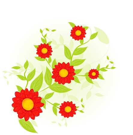 abstract floral: abstract floral background Illustration