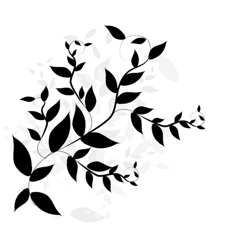 corners: Abstract floral background. Vector.