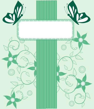 greeting card background: floral background, greeting card Illustration