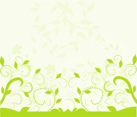 green flowers: Fresh green background