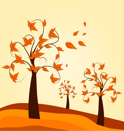 autumn background: Autumn tree background