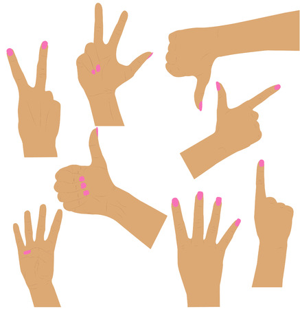 finger up: women  hands collection