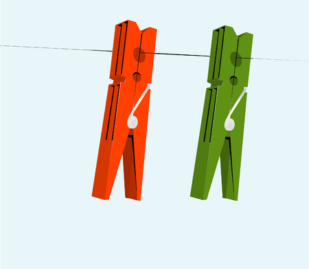 pegs: cloth pegs with a under the sky