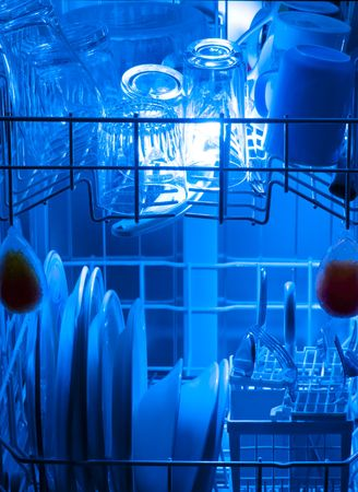 dish washer used for cleaning dirty dishes Stock Photo - 7909110
