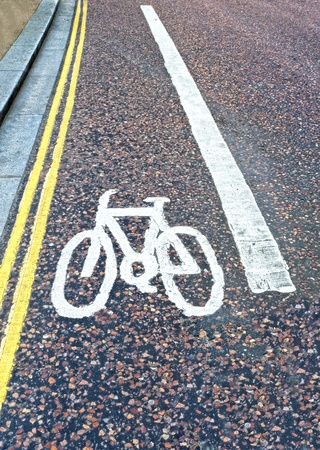 sectioned: area of road sectioned off for cyclists to be safe