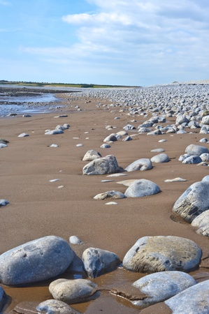 stoney: stoney landscape with sand and sky