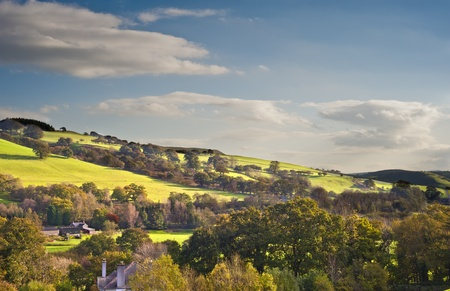view through the lustrous countryside of mid wales Stock Photo - 11153176
