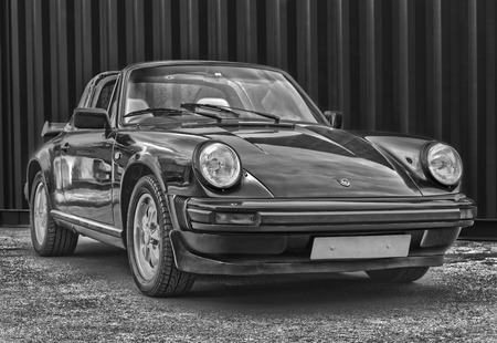 GWENT, UNITED KINGDOM-JUNE 7 : Porsche 911 Just After Being Restored to its Former Glory, June 7,2013 in Gwent United Kingdom