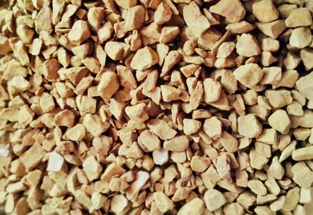 granules: Textured background of gound coffee granules