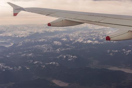 Austian アルプス上空飛行