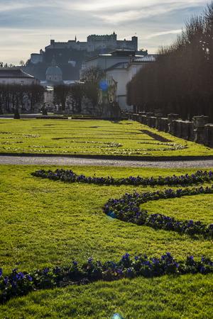 下の公園から見たザルツブルク城