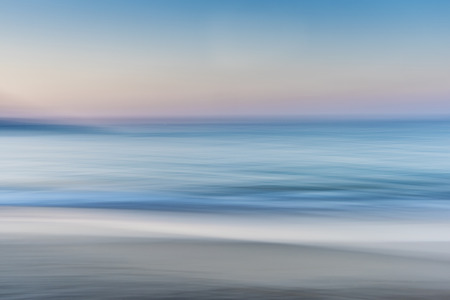 Abstract of the Sea Sand and Skyline  Horizon