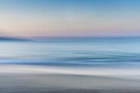 Deniz Kum Özet ve Skyline  Horizon Stok Fotoğraf