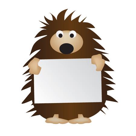 hedgehog: Hedgehog holding board
