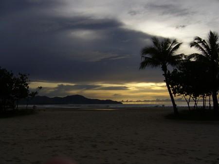 Borneo beach at sunset photo