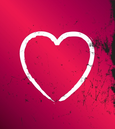 Modern graohic distressed grunge hearts, fully editable vector file photo