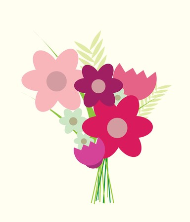 orla: A modern iillustration of a bunch of graphic flowers