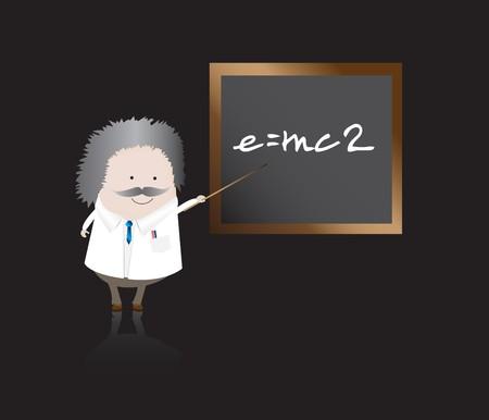 Professor with board Stock Photo - 4233925