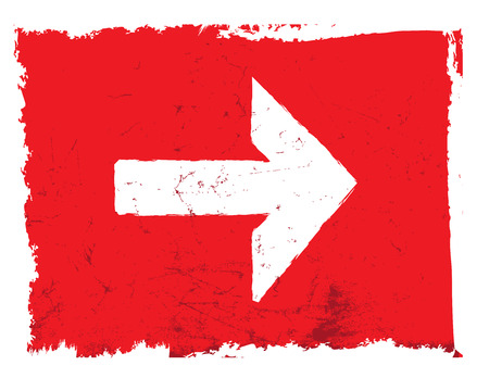 Red grunge forward arrow vector file