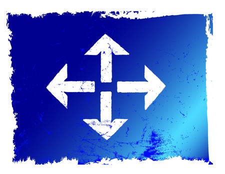 Blue grunge all direction arrow vector file Stock Vector - 4234281