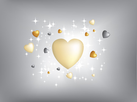 Detailed illustration of lots of gold and silvers stars Vector