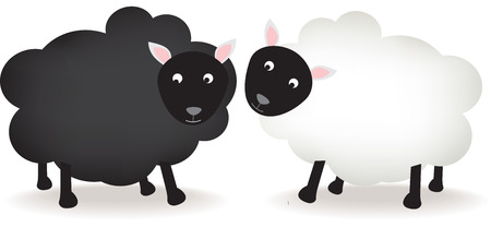 black and white sheep Detailed vector file, fully editable and scaleable to any size. Stock Vector - 4334226