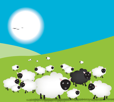 sheep love: Fichero vectorial detallado, totalmente editable y escalable a cualquier tama�o. Vectores