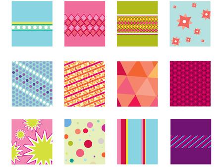 Geometric folk background patterns Stock Vector - 4334233