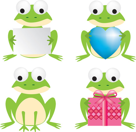 valentines dog: Frog Illustration