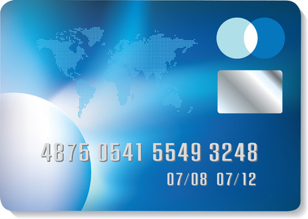 Generic credit card design, highly detailed vector file Vector